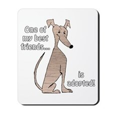 Adopted~Red Brindle Mousepad