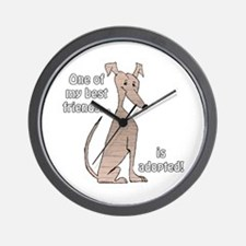 Adopted~Red Brindle Wall Clock