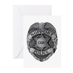 Support Our Police Greeting Cards (Pk of 10)