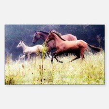 Galloping Horses Rectangle Decal