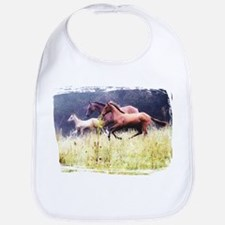 Galloping Horses Bib
