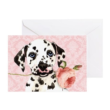 Dalmatian Rose Greeting Card