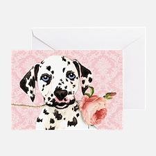 Dalmatian Rose Greeting Card