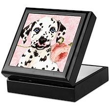 Dalmatian Rose Keepsake Box