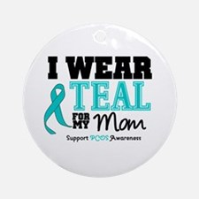 IWearTeal Mom Ornament (Round)