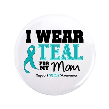 """IWearTeal Mom 3.5"""" Button"""