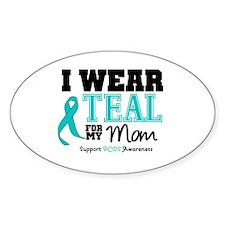 IWearTeal Mom Oval Decal