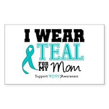 IWearTeal Mom Rectangle Sticker 10 pk)