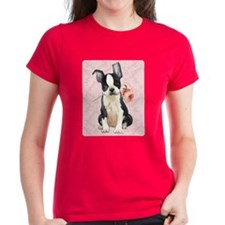 Boston Terrier Rose Tee