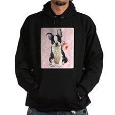 Boston Terrier Rose Hoodie