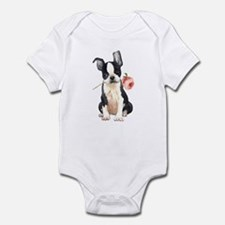 Boston Terrier Rose Infant Bodysuit