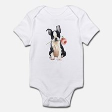 Boston Terrier Rose Onesie
