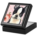 Boston terrier Square Keepsake Boxes
