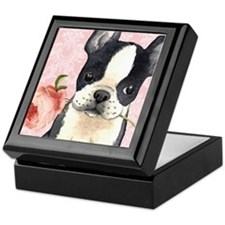Boston Terrier Rose Keepsake Box