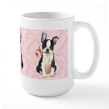 Boston Terrier Rose Large Mug