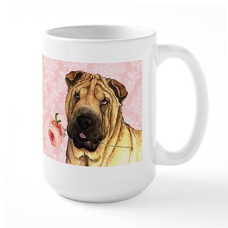 Shar-Pei Rose Large Mug