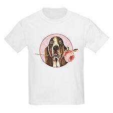 Basset Hound Rose T-Shirt