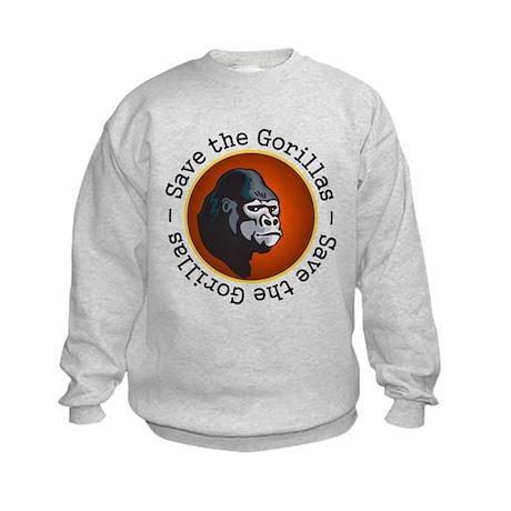 Save the Gorillas Kids Sweatshirt