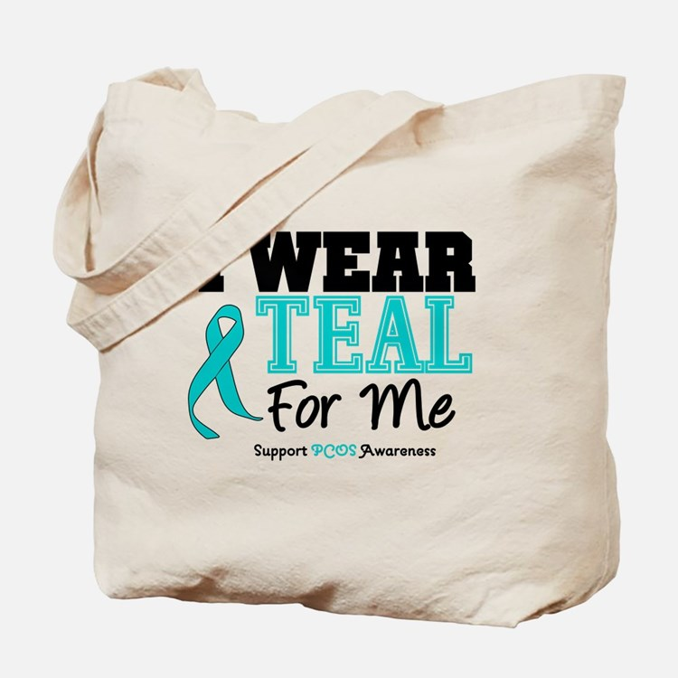 I Wear Teal For Me Tote Bag