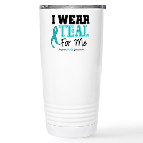 I Wear Teal For Me Stainless Steel Travel Mug