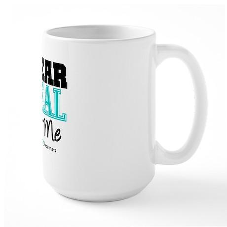 I Wear Teal For Me Large Mug