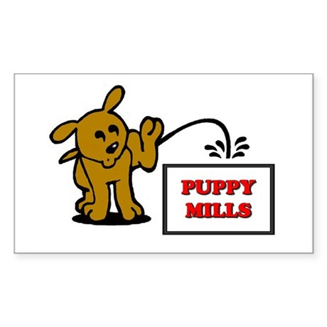 Puppy Mill Feelings Rectangle Sticker