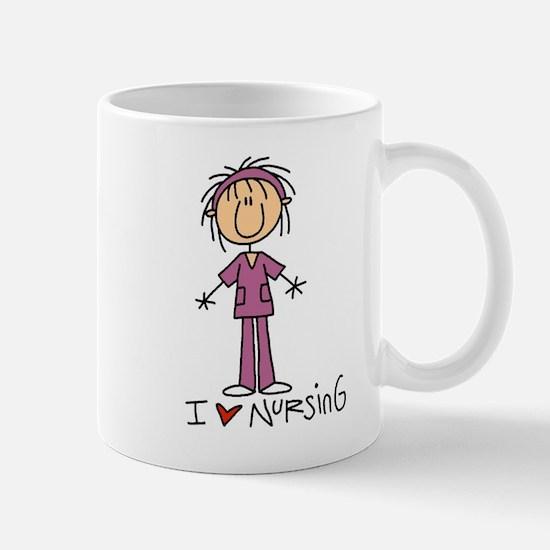 I Love Nursing Mug