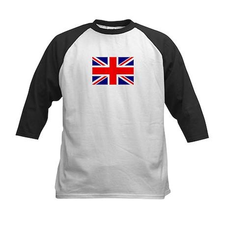 Union Jack or British Flag 5 Kids Baseball Jersey