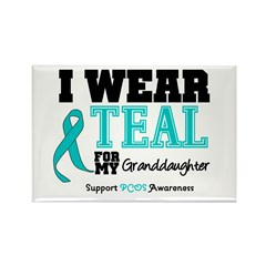 IWearTeal Granddaughter Rectangle Magnet (10 pack)