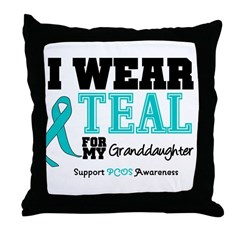 IWearTeal Granddaughter Throw Pillow