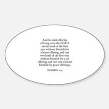 NUMBERS 6:14 Oval Decal