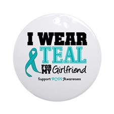 IWearTeal Girlfriend Ornament (Round)