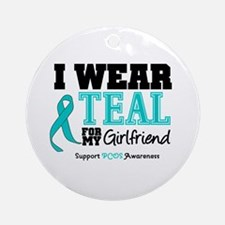IWearTeal Girlfriend Ornament (Round)