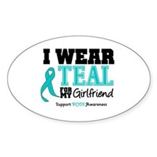 IWearTeal Girlfriend Oval Decal