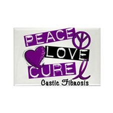 PEACE LOVE CURE Lupus (L1) Rectangle Magnet