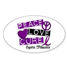 PEACE LOVE CURE Lupus (L1) Oval Decal