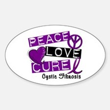 PEACE LOVE CURE Lupus (L1) Oval Decal