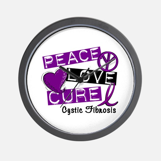 PEACE LOVE CURE Lupus (L1) Wall Clock