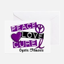 PEACE LOVE CURE Lupus (L1) Greeting Card