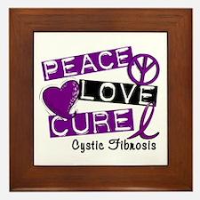 PEACE LOVE CURE Lupus (L1) Framed Tile