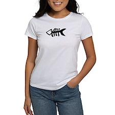 black fishbone symbol Tee