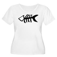 black fishbone symbol T-Shirt