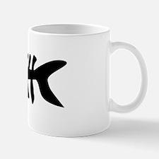 black fishbone symbol Mug