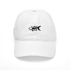 black fishbone symbol Baseball Cap