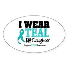IWearTeal Daughter Oval Decal