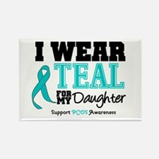 IWearTeal Daughter Rectangle Magnet
