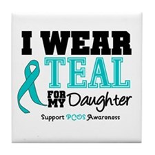 IWearTeal Daughter Tile Coaster