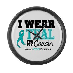 IWearTeal Cousin Large Wall Clock