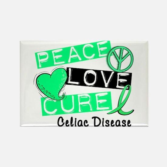 PEACE LOVE CURE Celiac Disease (L1) Rectangle Magn