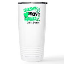 PEACE LOVE CURE Celiac Disease (L1) Travel Mug